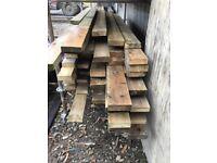 Timber pine planks used.