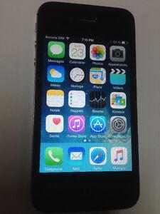 iphone 4s noir avec fido en très bonne condition 100 $ firm