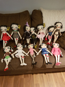 Collection of Betty Boop - Kellytoy Dolls from 1999