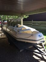 Z-Ray inflatable boat & 6X10 utility trailer
