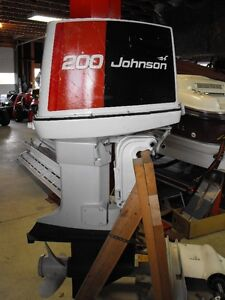 1977 Johnson 200 HP, V6, Outboard Motor - $1500