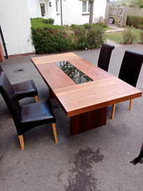 Large table with 4 chairs