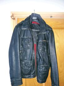 Mens Superdry Leather Jacket.