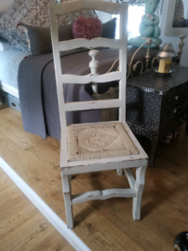 Shabby Chic Highback Chairs x2