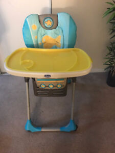 Chicco Polly Highchair. No 5 point Harness Strap