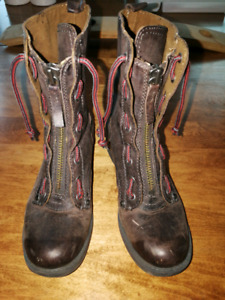 Nine West brown leather boots size 61/2