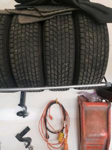 4 yokohoma winter tires 5x114.3