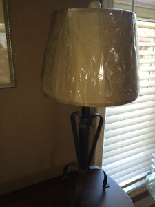 Metal Lamp with new shade Windsor Region Ontario image 1