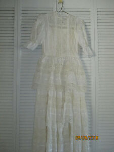 Vintage Wedding Dress and Bribesmaid Dress