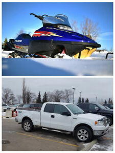 Ford f150 with 800 RMK Polaris