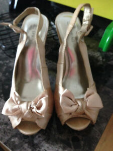 Barely Worn Silk Blush Heels