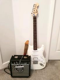 Fender Squire Electric Guitar w/ Fender Amp