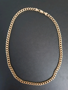 Gold Necklace Chain Solid 10ct - Mens
