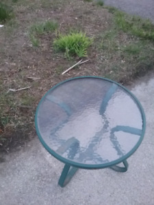 Side table for outdoor or indoor use