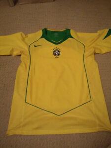 brazil soccer jersey nike  size medium