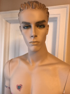 Mannequin, white,realistic male.
