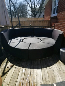 7 piece patio set with cushions wicker style