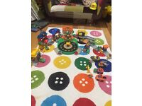 Fisher Price Little People Village, round about and car wash