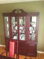 Gorgeous Cherry Wood Dining Set with Hutch and Buffet