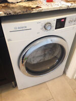 Mint Condition Bosch Electric 6.7 cu ft. Steam Dryer + Washer