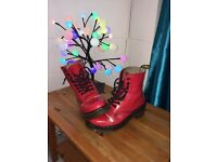 Dr Martens Heeled Red Patent Size 5