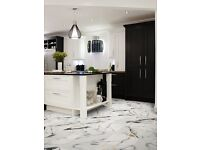 £12 m2 Marble effect Tiles