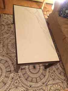 Wood and Ceramic Tile Coffee Table