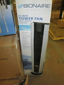 BRAND NEW BIONAIRE TOWER FAN AND 16'' STANDING FAN