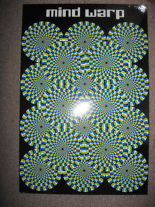 Spinning wheels picture on a wooden board