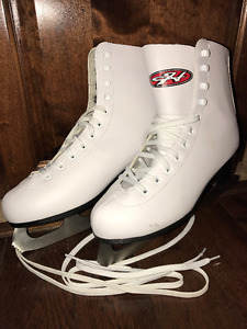 Hespeler Leather Women Ice Figure Skates Size US 7