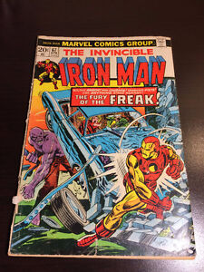 """Iron Man"" vintage comics(5)-Marvel 1974 to 1981- great bargains"