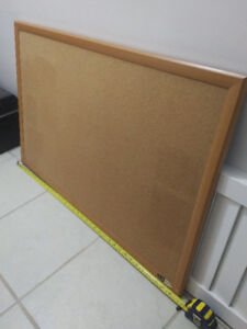 $40 for 3ft oak wooden cork bulletin board