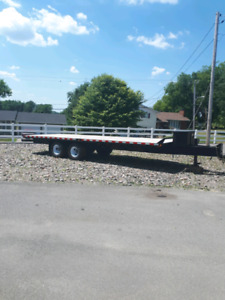2014 24' Commercial Flat Bed Trailer