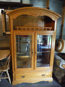 China Cabinet, Table + chair, HeadBoard Regina Regina Area image 1