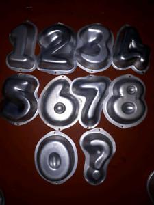 Complete mini numbers cake pan set
