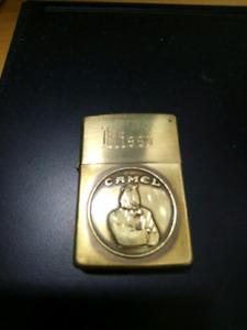 Camel Joe Brass Zippo Lighter