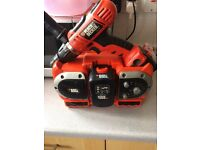 Black and decker drill and radio