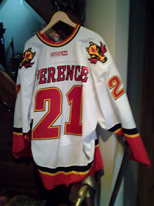 GAME WORN CALGARY ANDREW FERENCE 2003-4 JERSEY Windsor Region Ontario image 1