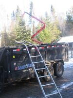 Tree Removal..Better Safe Than Sorry! Check Out The Bent Ladder.