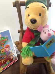 Adorable Christmas Pooh & Piglet Read a Story!