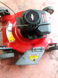 Lawn mover with 5 hp engine