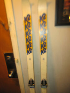 K2 Downhill  Skis And Geze SL Bindings Made USA And Austria