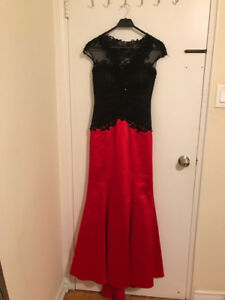 Beatiful dress from turkey black and red
