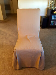 Parsons chairs ivory/cream with light brown covers
