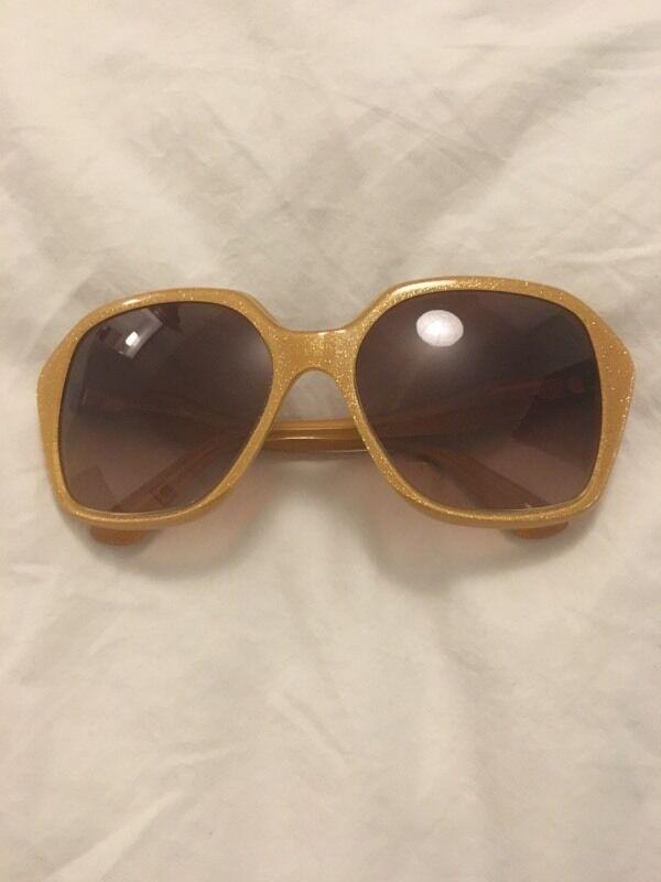 Miu Miu gold glitter sunglasses bnwt