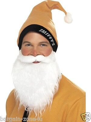 Smiffy's Santa Adult Fancy Dress Christmas Party Custome Gold Hat Beard - Custom Santa Kostüm