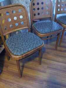 3 Retro matching dinette chairs
