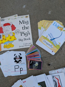 Cards and books, literacy