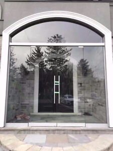 10mm Tempered Glass Entrance Door & Mirror & Stair
