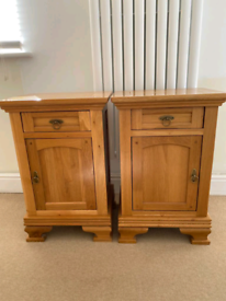 John Lewis solid oak bedside tables and drawers